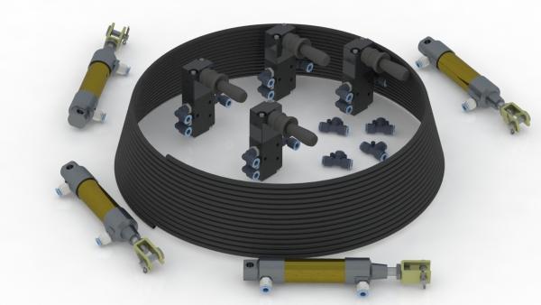 Kit Neumático para comando de Porta Volquete