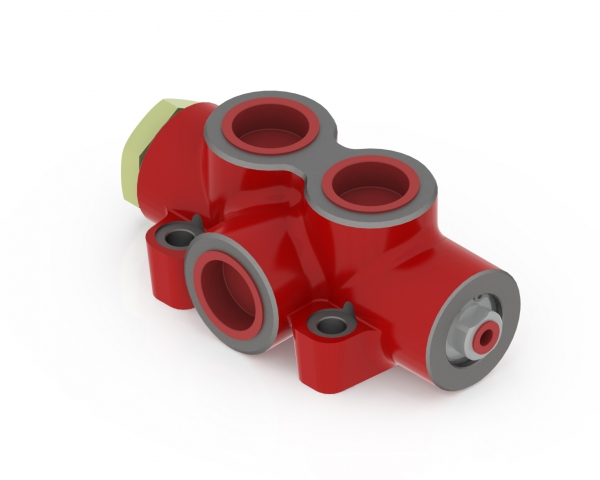 Válvula derivadora de caudal neumática