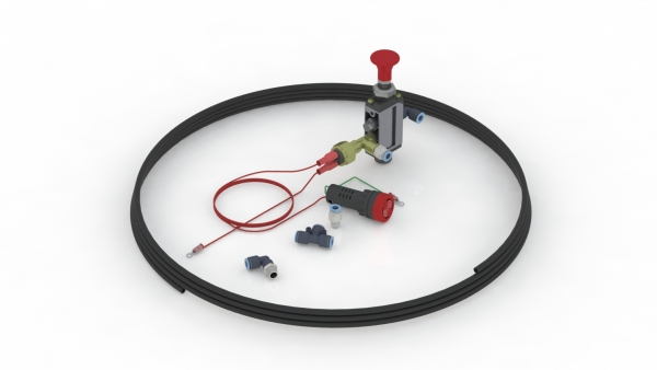 Kit Neumático Simple con Indicador Sonoro - Lumínico